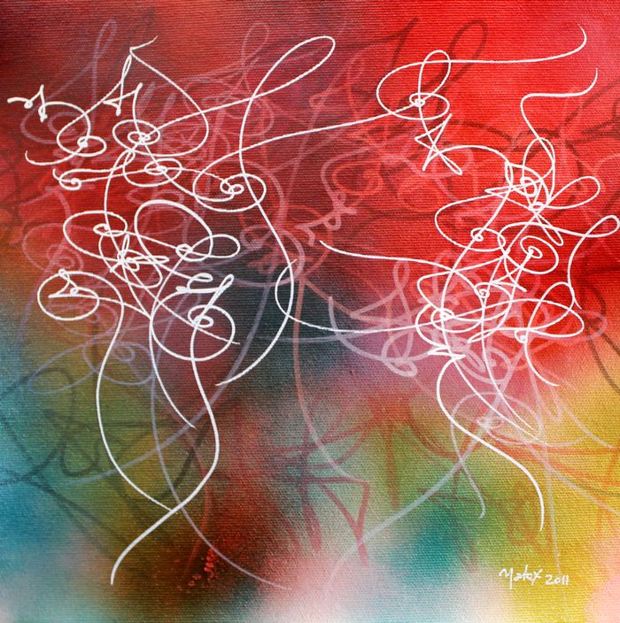 arabic art abstract calligraphy