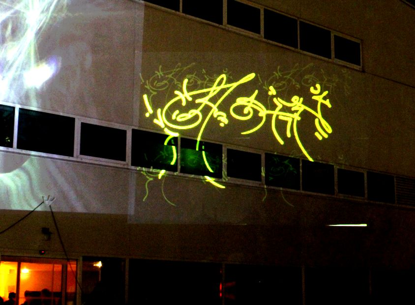 graffiti workshop projection video